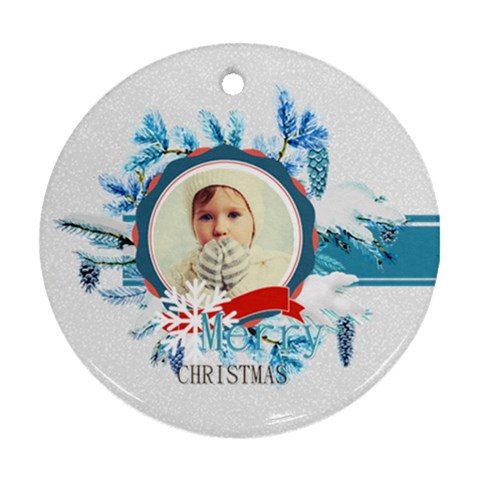 Xmas By 2016   Ornament (round)   Gcl98m0cfjos   Www Artscow Com Front