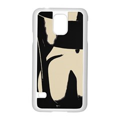 17 Sexy Conte Sketch Girl On Chair Naked Ass Butt Sexy Rear Samsung Galaxy S5 Case (White) by PeterReiss