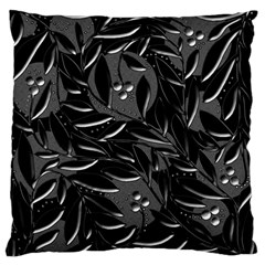 Black Floral Design Standard Flano Cushion Case (two Sides) by Valentinaart