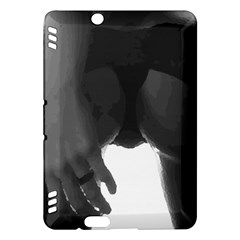 9 Bondage Oil Paint Girl Standing In Shadows Ass Butt Kindle Fire Hdx Hardshell Case by PeterReiss
