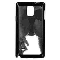 9 Bondage Oil Paint Girl Standing In Shadows Ass Butt Samsung Galaxy Note 4 Case (black) by PeterReiss