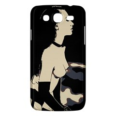 16 Sexy Conte Sketch Girl On Balcony Naked Boobs Nipples Ass Stockings Samsung Galaxy Mega 5 8 I9152 Hardshell Case  by PeterReiss