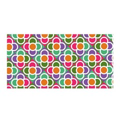 Modernist Floral Tiles Satin Wrap by DanaeStudio