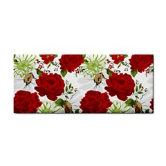 Red Roses Hand Towel by fleurs