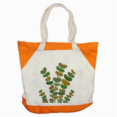Green Decorative Plant Accent Tote Bag by Valentinaart