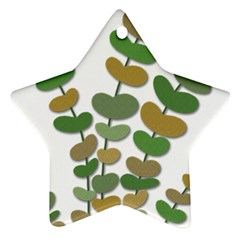 Green Decorative Plant Star Ornament (two Sides)  by Valentinaart