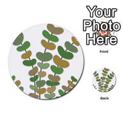 Green Decorative Plant Multi Purpose Cards (round)  by Valentinaart