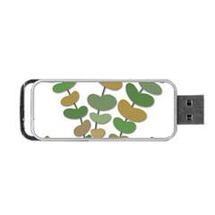 Green Decorative Plant Portable Usb Flash (two Sides) by Valentinaart