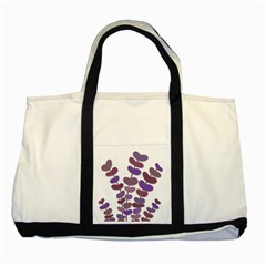 Purple Decorative Plant Two Tone Tote Bag by Valentinaart