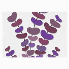 Purple Decorative Plant Large Glasses Cloth (2 Side) by Valentinaart