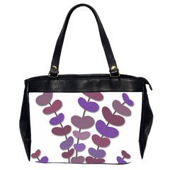 Purple Decorative Plant Office Handbags (2 Sides)  by Valentinaart