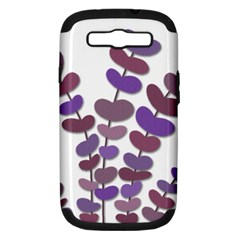 Purple Decorative Plant Samsung Galaxy S Iii Hardshell Case (pc+silicone) by Valentinaart