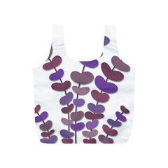Purple Decorative Plant Full Print Recycle Bags (s)  by Valentinaart