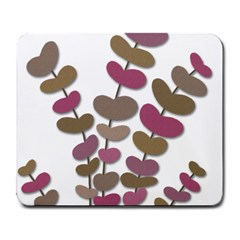 Magenta Decorative Plant Large Mousepads by Valentinaart