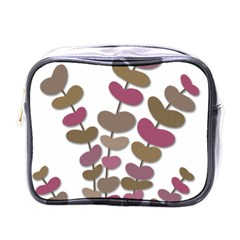 Magenta Decorative Plant Mini Toiletries Bags by Valentinaart