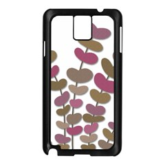 Magenta Decorative Plant Samsung Galaxy Note 3 N9005 Case (black) by Valentinaart