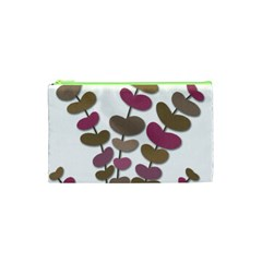 Magenta Decorative Plant Cosmetic Bag (xs) by Valentinaart