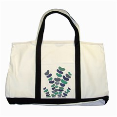 Blue Decorative Plant Two Tone Tote Bag by Valentinaart