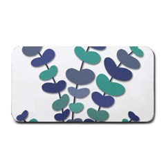 Blue Decorative Plant Medium Bar Mats by Valentinaart