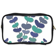 Blue Decorative Plant Toiletries Bags 2 Side by Valentinaart