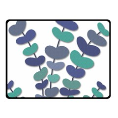 Blue decorative plant Fleece Blanket (Small) by Valentinaart