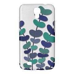 Blue Decorative Plant Samsung Galaxy Mega 6 3  I9200 Hardshell Case by Valentinaart
