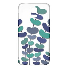 Blue Decorative Plant Samsung Galaxy S5 Back Case (white) by Valentinaart