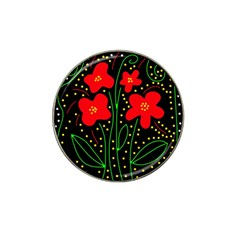 Red Flowers Hat Clip Ball Marker (10 Pack) by Valentinaart