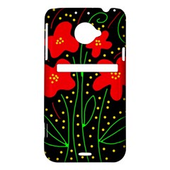 Red flowers HTC Evo 4G LTE Hardshell Case
