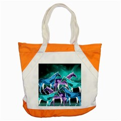 Horses Under A Galaxy Accent Tote Bag by DanaeStudio