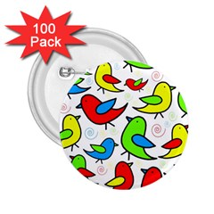 Colorful Cute Birds Pattern 2 25  Buttons (100 Pack)  by Valentinaart