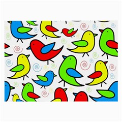 Colorful cute birds pattern Large Glasses Cloth (2-Side)
