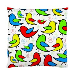 Colorful Cute Birds Pattern Standard Cushion Case (two Sides) by Valentinaart