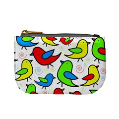 Colorful Cute Birds Pattern Mini Coin Purses by Valentinaart