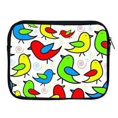 Colorful Cute Birds Pattern Apple Ipad 2/3/4 Zipper Cases by Valentinaart