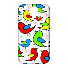 Colorful Cute Birds Pattern Samsung Galaxy S4 Classic Hardshell Case (pc+silicone) by Valentinaart