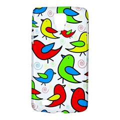 Colorful Cute Birds Pattern Galaxy S4 Active by Valentinaart