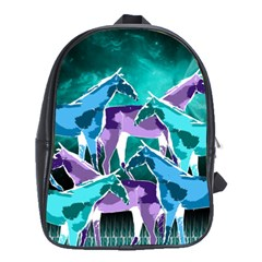 Horses Under A Galaxy School Bag (large) by DanaeStudio