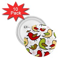Decorative Birds Pattern 1 75  Buttons (10 Pack) by Valentinaart