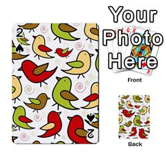 Decorative Birds Pattern Playing Cards 54 Designs