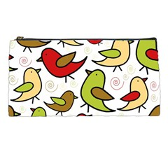 Decorative Birds Pattern Pencil Cases by Valentinaart