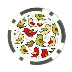 Decorative Birds Pattern Poker Chip Card Guards (10 Pack)  by Valentinaart