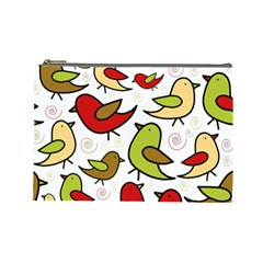 Decorative Birds Pattern Cosmetic Bag (large)  by Valentinaart
