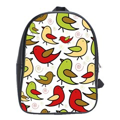 Decorative Birds Pattern School Bags(large)  by Valentinaart