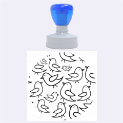 Decorative Birds Pattern Rubber Round Stamps (large)