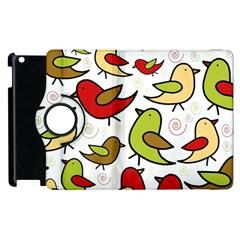 Decorative birds pattern Apple iPad 2 Flip 360 Case