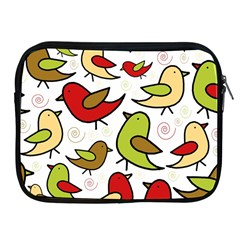 Decorative Birds Pattern Apple Ipad 2/3/4 Zipper Cases by Valentinaart