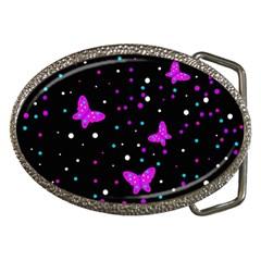 Pink butterflies  Belt Buckles by Valentinaart
