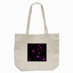 Pink Butterflies  Tote Bag (cream) by Valentinaart