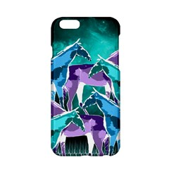 Horses Under A Galaxy Apple Iphone 6/6s Hardshell Case by DanaeStudio